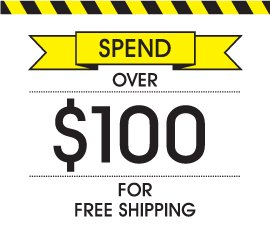 Orders over $100 ship free